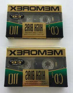 Memorex 110 Cassette lot  CD2 High Bias type II New & Sealed
