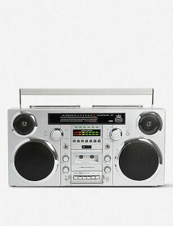 GPO Brooklyn Bluetooth Boombox 80W CD Cassette FM USB Record