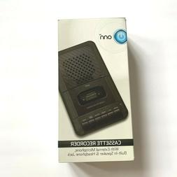 cassette recorder with external microphone and blank