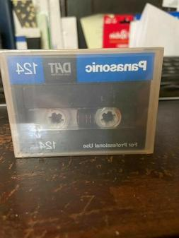 DAT tapes digital audio Panasonic 124 NEW