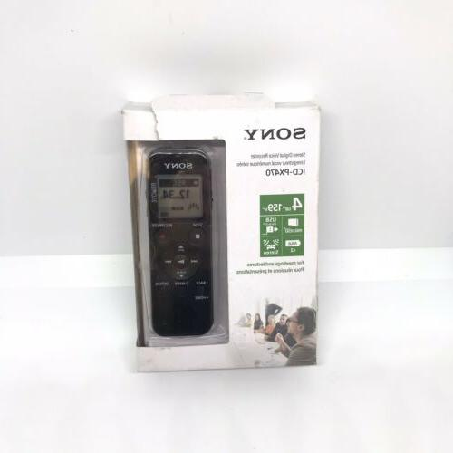 icd px370 stereo digital voice recorder 4gb