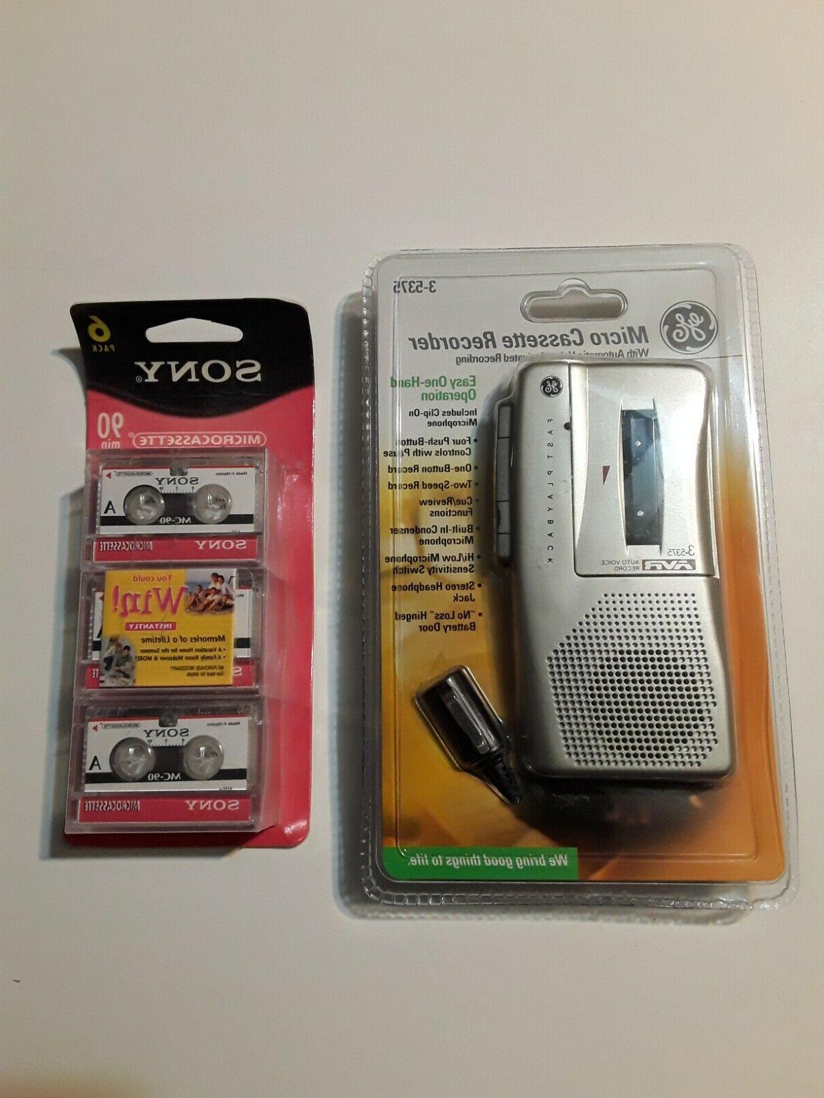 micro cassette handheld activated recorder 3 5375