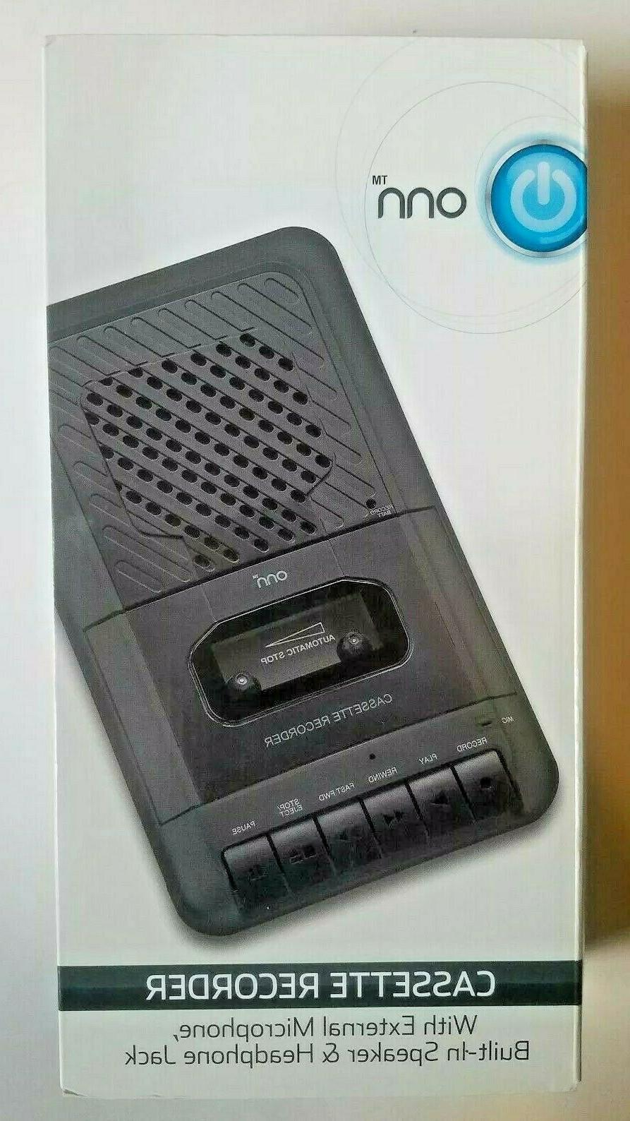 portable cassette player recorder with built in