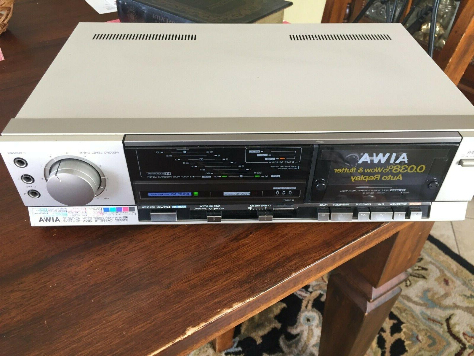 stereo cassette player recorder ad 3150u used