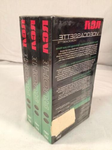RCA T-120 6hr Video Tapes SEALED 3 Pack ~ NEW