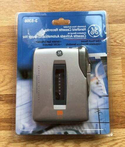 voice activated handheld cassette recorder 3 5366