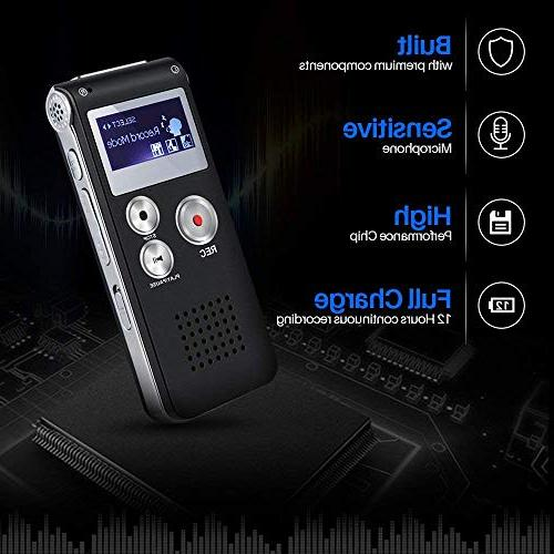 Digital Double Sensitive Microphone Body A-B Lecture Recorder