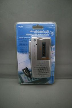 GE MICRO CASSETTE RECORDER 3-5377 W/AUTOMATIC VOICE-ACTIVATE