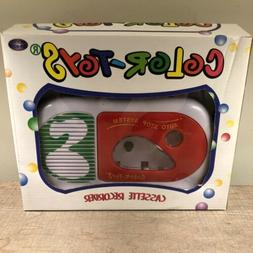 New Vintage Color Toys Cassette Player/Recorder Colorful