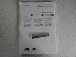 Phillips DVD and Video Cassette Recorder User's Manual for D