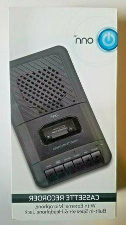 ONN Portable Cassette Player Recorder With Built in Speaker