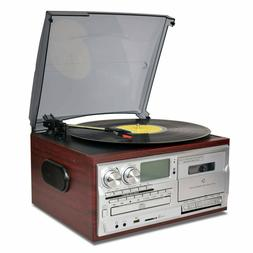 Record Player 9 in 1 Bluetooth Turntable Vinyl to MP3 CD Cas