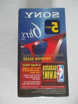 Sony T120VR 5-Pack 120- Minute VHS Tapes